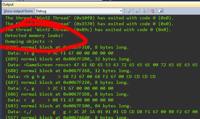 Tracking memory leaks in Visual Studio